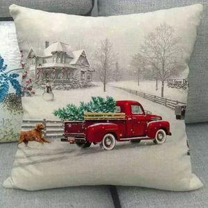🎄Christmas Tree Cushion Cover Case Wagon 18x18
